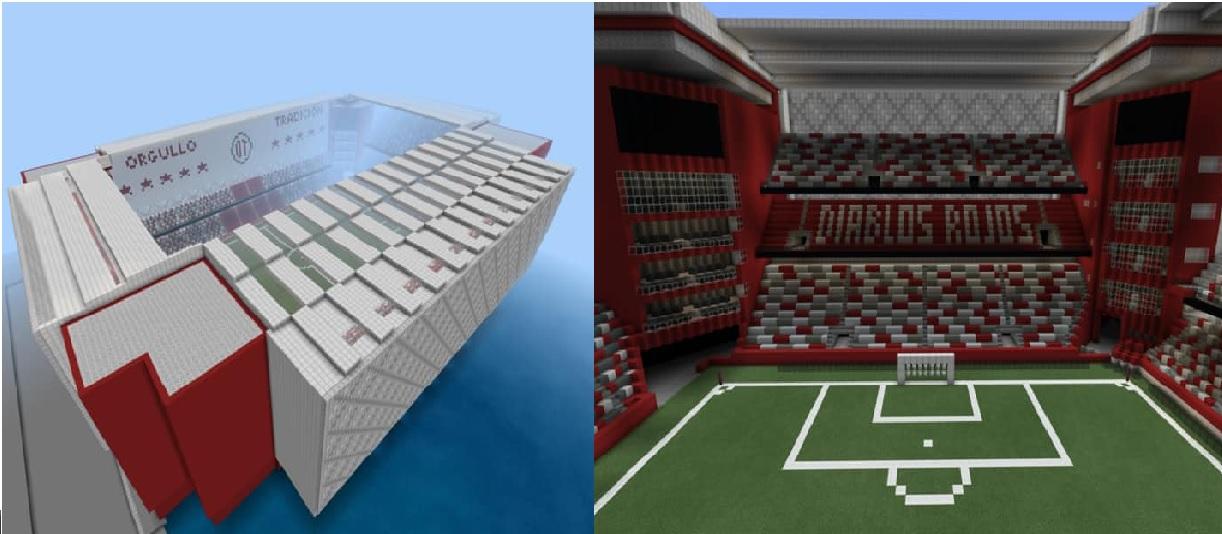 El el Estadio Nemesio Diez arte y vive en Minecraft
