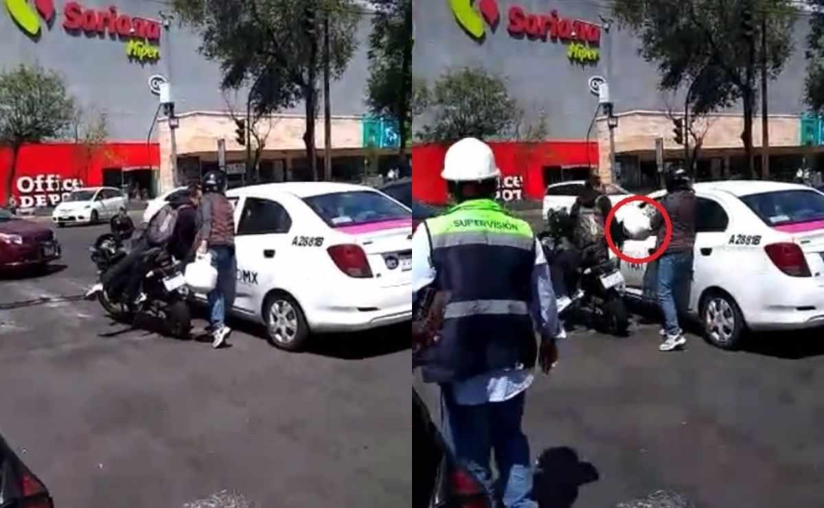 Lady Gas rompe vidrio de taxista y video se vuelve viral