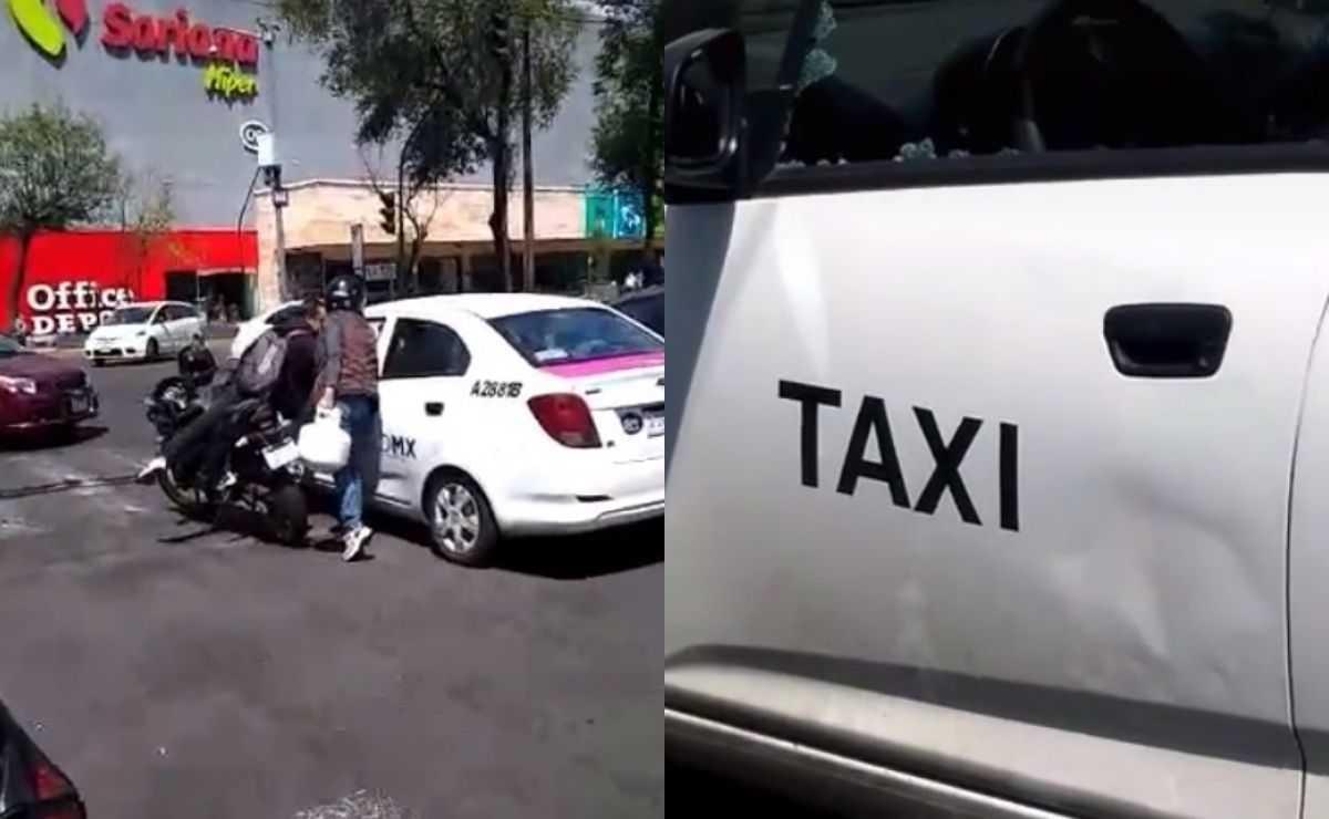 Apodan Lady Gas a mujer que rompió el vidrio de un taxista en una discusión en la CDMX