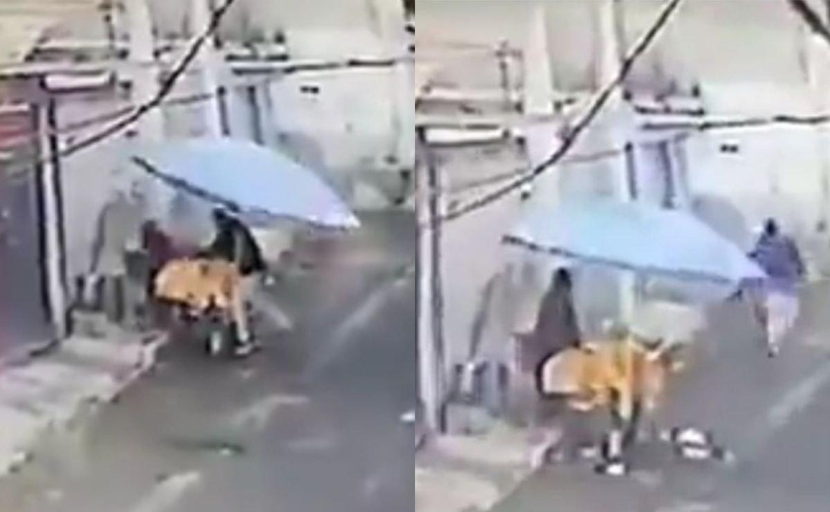 Se roba dinero de un puesto de tamales en Edomex y el video se hace viral en redes sociales